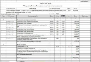 Пример сметного расчета на обследование зданий в excell