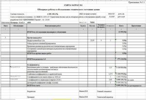 Пример расчета стоимости работ по обследование зданий в excell
